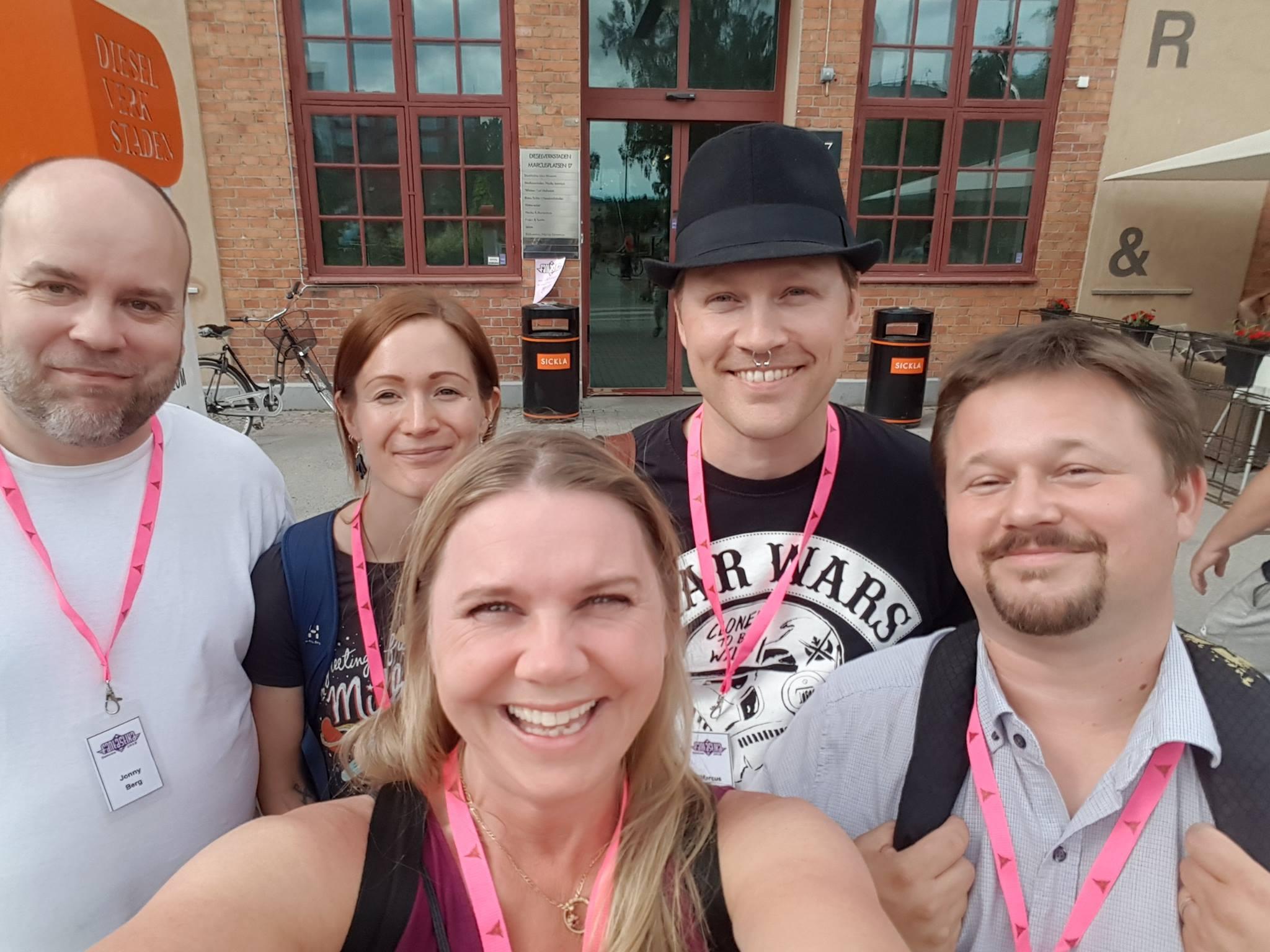Finhäng med Jonny Berg, Marcus Olausson, Oskar Källner och Pia de Lerigon