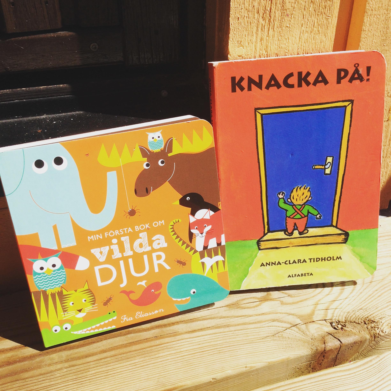 Två av böckerna som ofta väljs här hemma